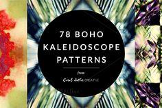 Boho Kaleidoscope Patterns by Coral Antler Creative on @creativemarket