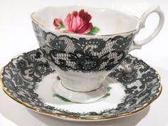 Senorita by Royal Albert Tea Cup and Saucer, English Bone China Cups, Tea Set…