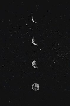 Iphone Wallpaper Moon, Moon And Stars Wallpaper, Sf Wallpaper, Trendy Wallpaper, Aesthetic Iphone Wallpaper, Black Wallpaper, Stars And Moon, Cute Wallpapers, Aesthetic Wallpapers