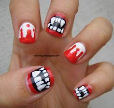 Haloween Nails: Bloody Vampire