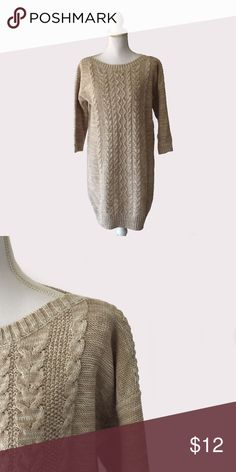 Old Navy Cable Knit Sweater Dress Old Navy   size large   60% cotton 40% acrylic   all pictures taken by me product shown as is Old Navy Dresses