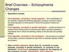 Schizophrenia: Differential Diagnosis and the DSM-5; changes from ...