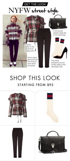 """""""Express Yourself!"""" by polyvore-editorial ❤ liked on Polyvore featuring Area Di Barbara Bologna, Gucci, Damsel in a Dress, Proenza Schouler and Christian Louboutin"""