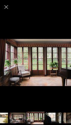 Glasad verandadel i ett hus i Smedslätten. Fint med franska fönster.