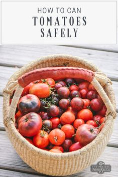 to Can Tomatoes Safely at Home How to Can Tomatoes Safely at Home: take a closer look at what you need to know for safely canning tomatoes. How to Can Tomatoes Safely at Home: take a closer look at what you need to know for safely canning tomatoes. Freezer Jam Recipes, Jelly Recipes, Canning Recipes, Real Food Recipes, Healthy Recipes, Chokecherry Jelly, Canning Tomatoes, Canning Beans, Canning Vegetables