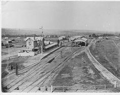 Train Station, 1900's #Gawler #SouthAustralia Adelaide South Australia, Western Australia, Old Photos, Vintage Photos, Train Tracks, Palestine, Tasmania, Train Station, Ancestry