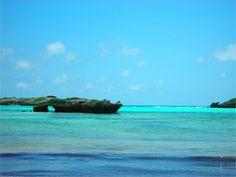 Il mare del Kenya, tra il blu, l'azzurro e il verde