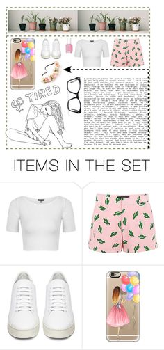 """""""So tired.."""" by splash-of-collor ❤ liked on Polyvore featuring art"""