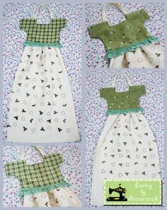 Easy Epattern For Kitchy Cute Hanging Dish Towel That Looks Like A Cute  Little Dress. To Hang Over An Oven Door Or Towel Bar | Dishes, Towels And  Dish ...