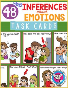 This contains an image of: {{ pinTitle }} Inference Pictures, Picture Of A Person, Social Thinking, Task Cards, Social Skills, Speech Therapy, Teacher Pay Teachers, Language, Student