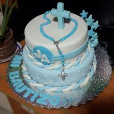 Bautizo niño Cake, Desserts, Food, Food Cakes, Tailgate Desserts, Deserts, Kuchen, Essen, Postres