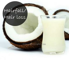 Hair loss/Hairfall treatment -- NEED: -coconut milk - cotton ball  1) coat your hair entirely in coconut milk 2) massage scalp for 10 minutes 3) wash off after 30 minutes 4) repeat twice a week --OR-- 1) warm up coconut milk 2) apply to roots using a cotton ball
