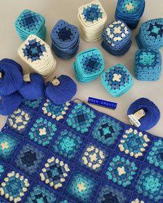 Boho Crochet Patterns, Granny Square Crochet Pattern, Crochet Squares, Crochet Motif, Crochet Fruit, Crochet Wool, Crochet Needles, Crochet Flowers, Crochet For Beginners Blanket