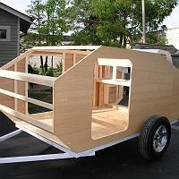 Pickup Camping, Small Camping Trailer, Small Trailer, Tiny House Trailer, Van Camping, Diy Teardrop Trailer, Building A Teardrop Trailer, Teardrop Camper Plans, Small Camper Trailers