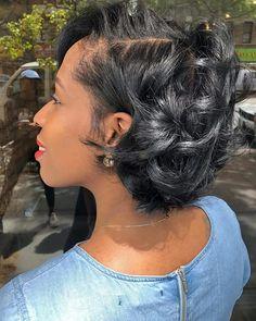 Best Womens Hairstyles For Fine Hair – HerHairdos Short Curls, Short Hair Cuts, Bob Hairstyles, Braided Hairstyles, Short Relaxed Hairstyles, Black Women Short Hairstyles, Woman Hairstyles, Everyday Hairstyles, Headband Hairstyles