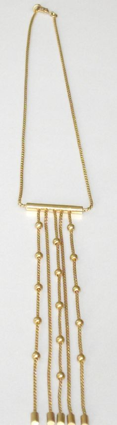 Vintage Monet Necklace Monet Gold Dangle Chain by designfrills, $18.00