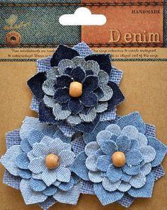 Little Birdie Crafts - Denim Collection - Aspen Flower