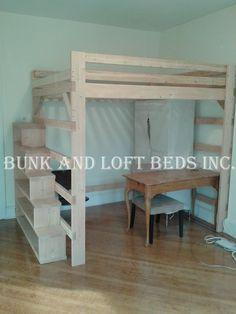 Queen Size Extra Tall Loft Bed With Custom by BunkAndLoftBedinc