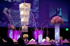 Wedding Reception: Suspended Wedding Cakes