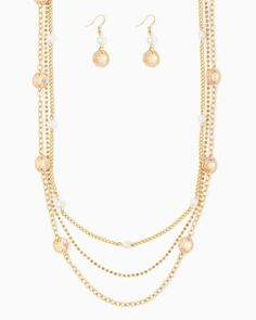charming charlie   Brilliantine Sheen Necklace Set   UPC: 410007125376 #charmingcharlie