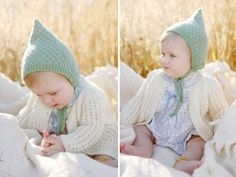 Knitted teal hat for baby - Dover Madden