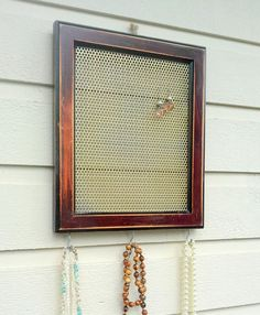 Earring Holder or jewelry organizer made from a by jensdreamdecor