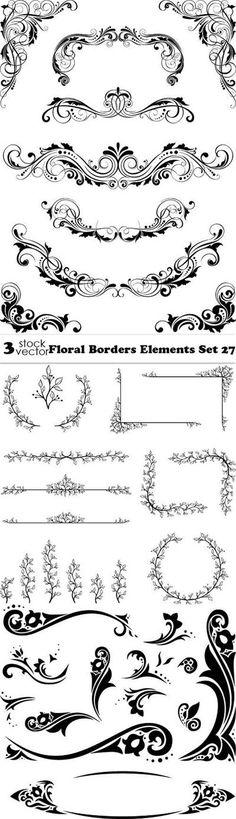 Download link:  megafilesfactory.com/444162c048d9368b/Vectors - Floral Borders Elements Set 27
