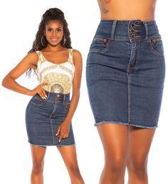 6890 Denim Skirt, Skirts, Fashion, Moda, Fashion Styles, Skirt, Fashion Illustrations, Jean Skirt