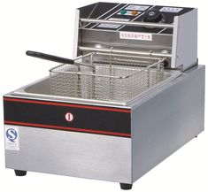 2017 Commercial 10L Stainless Steel 2.5kW Electric Fryer Single Tank Machine