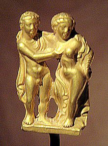 Statue of a Hellenistic couple excavated in Taxila (IV) [Pakistan].