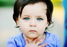the innocent blue eyes of a child