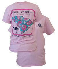 Southern Couture South Carolina Preppy Paisley State Pattern Palmetto | SimplyCuteTees