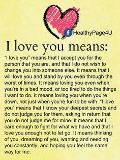 Du bist der wichtigste Mensch in meinem Herz und Leben. Forever, always.