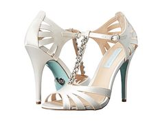 Blue by Betsey Johnson Song Silver Metallic - I don't usually like white or satin but I rather like these...