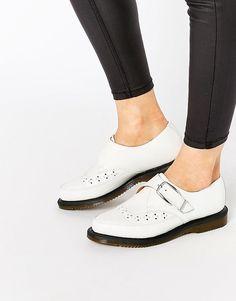 4de9760510c774 Dr Martens Rousden Pointed Toe Monk Strap Flat Shoes Dr. Martens