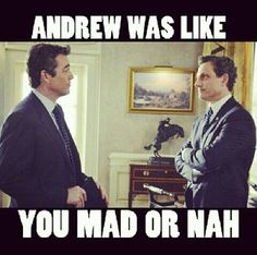 Why you mad Bro???? #Scandal #AndrewNichols