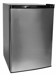 Haier HNSE045VS Refrigerator/Freezer, Cabinet/Vcm Door, 4.5-Feet cubic by Haier. $189.00. Add a modern aesthetic to your home while enjoying a refrigerator/freezer without sacrificing kitchen or living space. Invest in the Haier 4.5-Cubic Feet Refrigerator/Freezer in Steel. This stylish, compact unit allows for ample and efficient storage with its half-width freezer compartment, three 3 full-width glass shelves, Dispense-A-Can storage bins, and two 2 full-width door shel...