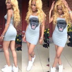 short cute dress  sneakers :)