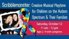 Scribblemonster: Creative Musical Playtime for Children with Autism #specialneeds #autism #visitlakecounty #lillakeco