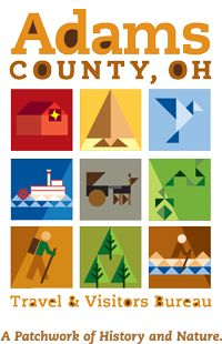 """We really like the new """"patchwork"""" logos for the Adams County Travel & Visitors Bureau."""