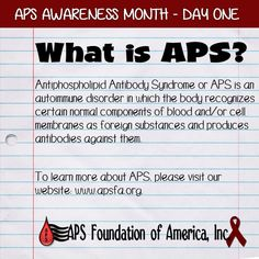 Do you know what Antiphospholipid Antibody Syndrome (APS) is?