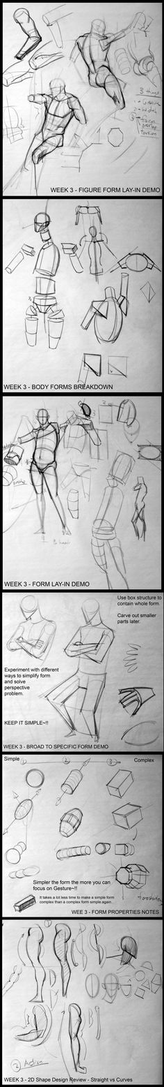 Form & overlaps - analyticalfiguresp08.blogspot - Kevin Chen #analytical #drawing #figureDrawing #instructorDemo #structure