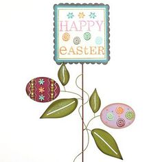 Happy Easter Garden Stake