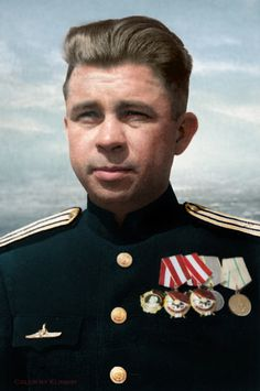 """Alexander Marinesko (January 2, 1913 - November 25, 1963, Leningrad) - Commander of the Red Banner of the submarine S-13 Red Banner Brigade submarines of the Baltic fleet, Captain 3rd rank, best known for """"Attack of the century."""" Hero of the Soviet Union."""