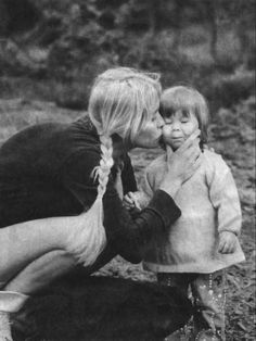 Pictures of Agnetha as a mother | www.abba4ever.com