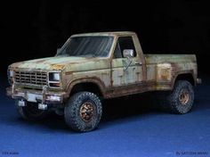 by Satoshi Araki Rc Cars And Trucks, Toy Trucks, Pickup Trucks, Monster Trucks, Model Truck Kits, Model Kits, Weather Models, Truck Scales, Plastic Model Cars