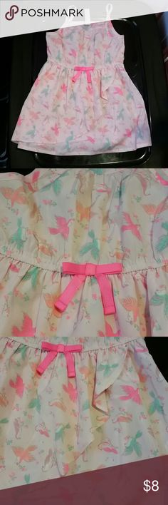 Gorgeous Neon Sparrow Print dress Excellent condition. Has elastic waist band and thin straps. 100% polyester Cherokee Dresses