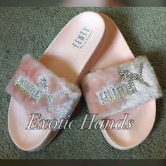 Bedazzled Rihanna Puma Slides by ExoticHands on Etsy