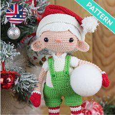 With this pattern by El Duende De Los Hilos you will lear how to knit a Boy elf doll crochet amigurumi pattern step by step. It is an easy tutorial about elf to knit with crochet or tricot. Dog Pattern, Crochet Doll Pattern, Crochet Patterns Amigurumi, Crochet Dolls, Christmas Hat, Christmas Humor, Handmade Christmas, Patron Crochet, Kawaii Crochet