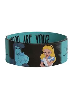 Disney Alice In Wonderland Caterpillar Rubber Bracelet | Hot Topic